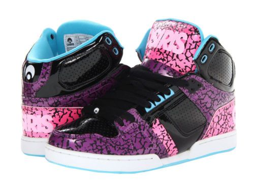 73c568f93ddf30 OSIRIS-WOMENS-NYC-83-SLIM-SHOES-Hi-Tops-Skate-Lifestyle-PURPLE-BLACK-PINK