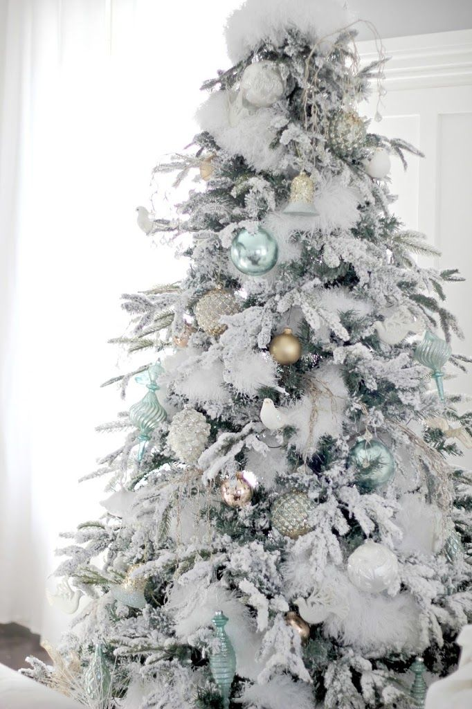 Update I Reside In Canada And Therefore You Might Not Be Able To Find The White Christmas Tree Decorations White Christmas Trees Silver Christmas Decorations