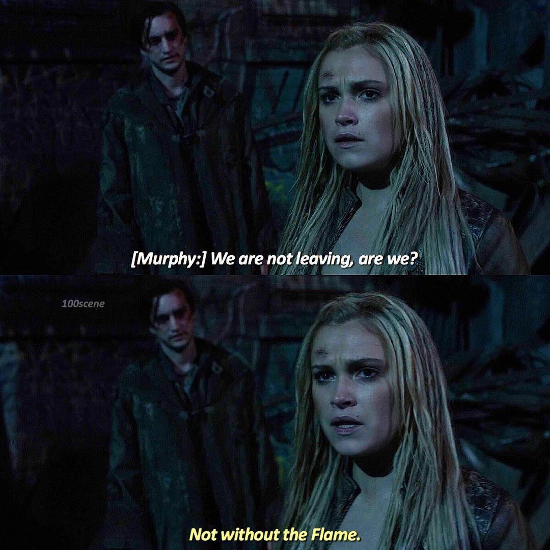 "#The100 3x09 ""Stealing Fire"" - Clarke and Murphy"