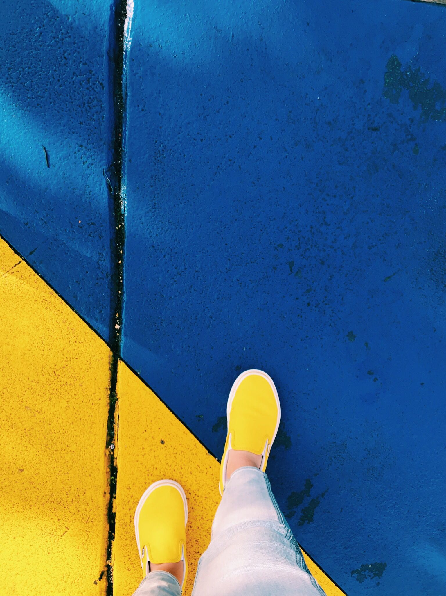 d10abdf0bf98 Custom yellow vans vsco vans yellow vans shoes jpg 1536x2049 Yellow vans  shoes fruit