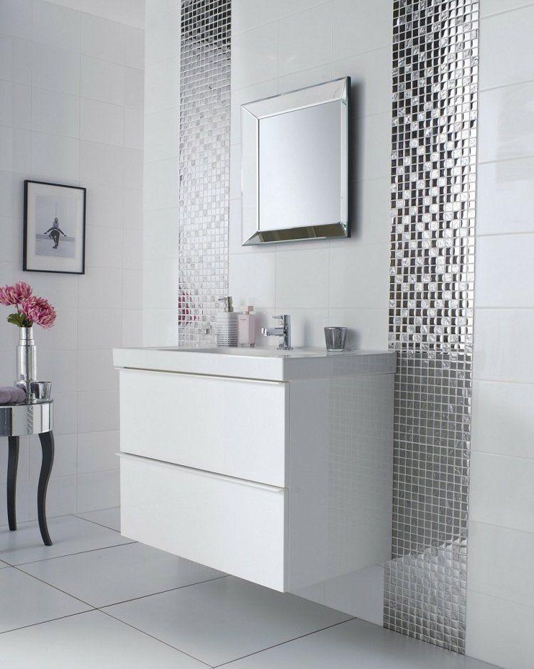 Peinture carrelage salle de bain u2013 idées de motifs et couleurs