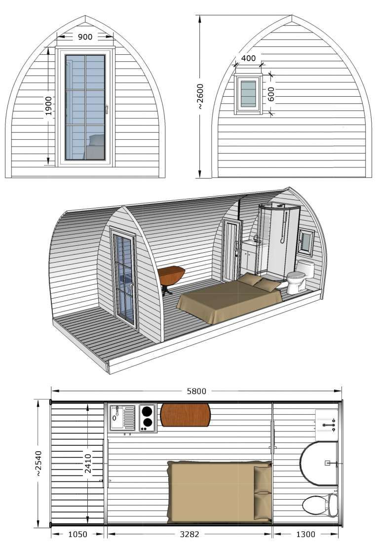 Log Pod 3 Universal Glamping Pod House Cheap Tiny House Small House Plans