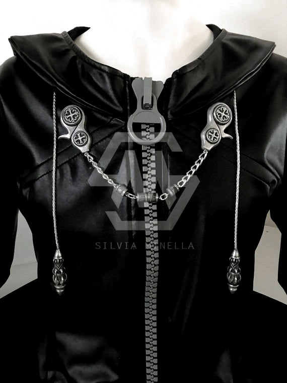 Inspired Pendants Coat Set Organization Xiii 13 Silver Cosplay Accessories Kingdom Hearts Ropa