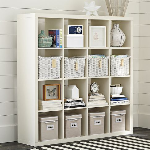 (IKEA EXPEDIT rip-off) Cubby Bookcase | PBteen - IKEA EXPEDIT Rip-off) Cubby Bookcase PBteen Living Room