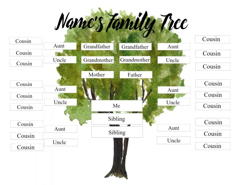 Cousin Family Tree Cousin Family Tree Family Tree Family Tree