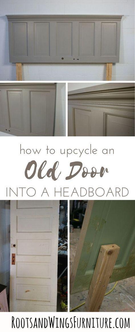 How To UpCycle An Old Door Into A Headboard How to UpCycle an Old Door into a Headboard Easy Diy Crafts easy diy headboard