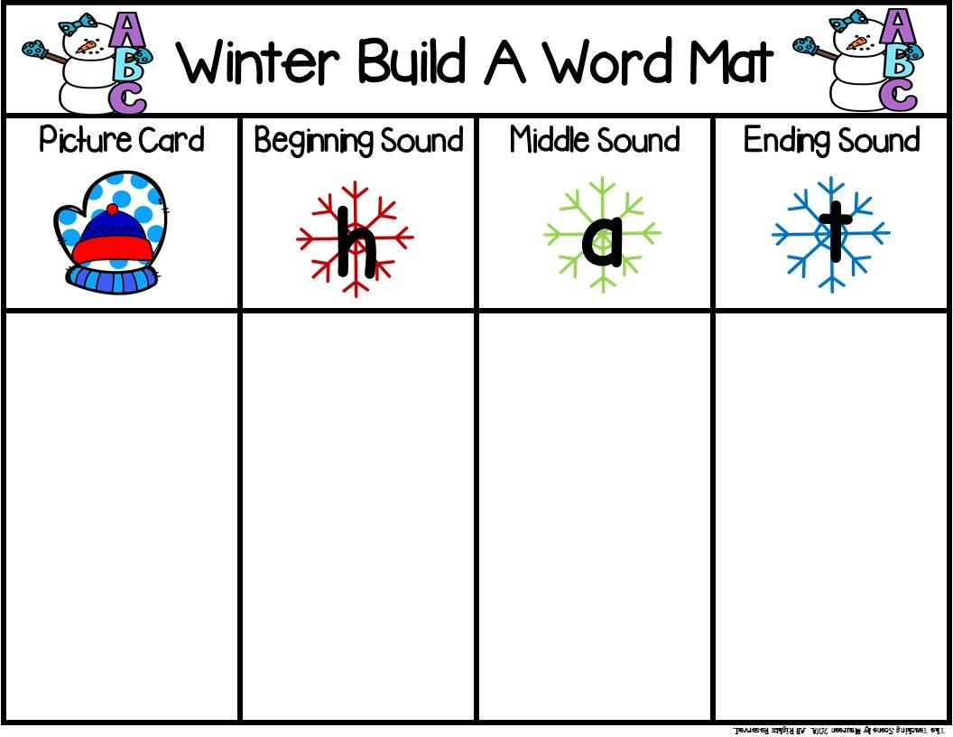Winter Build A Cvc Word Includes Digraphs Amp Blends