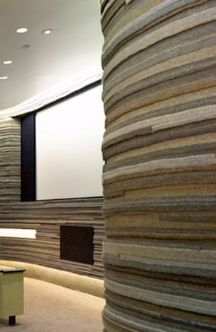 Feeling Felt Wall Coverings By Felt Studio Dailytonic Wall Panel Design Sound Proofing Interior Wall Insulation