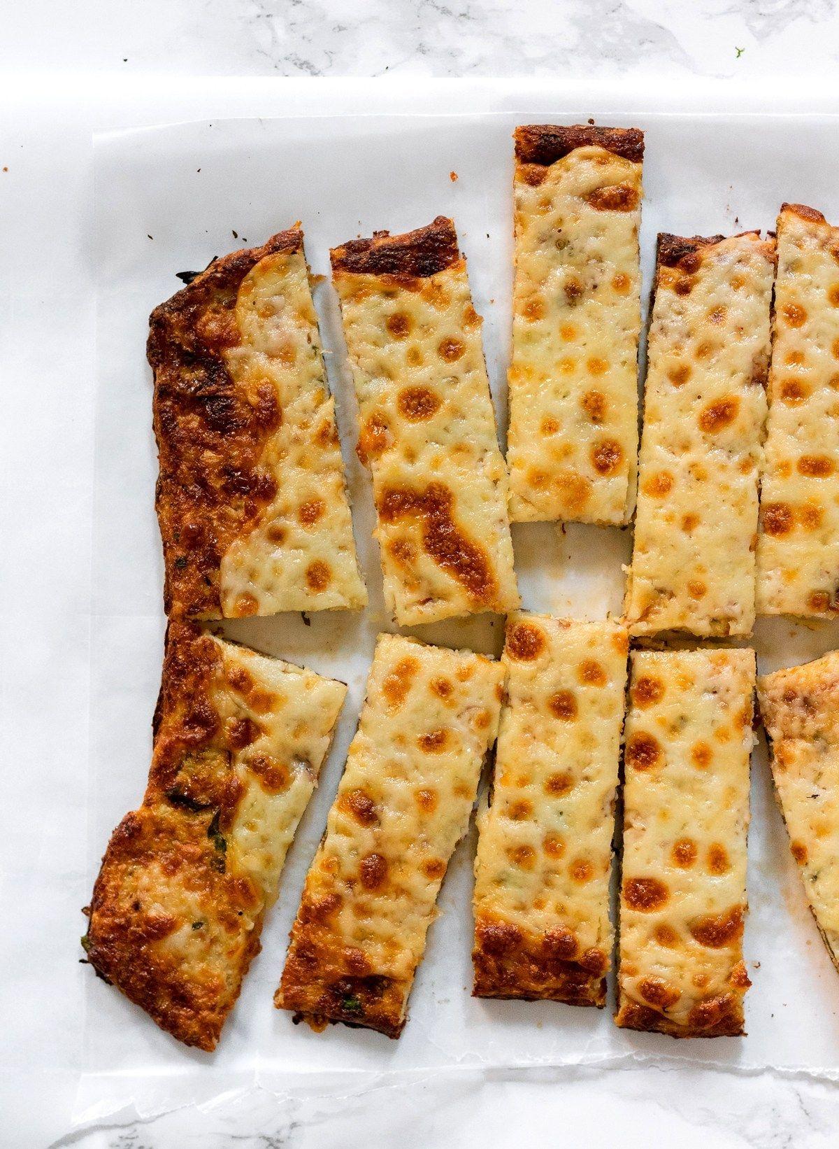 Cauliflower Breadsticks Low Carb Gluten Free Grain Free