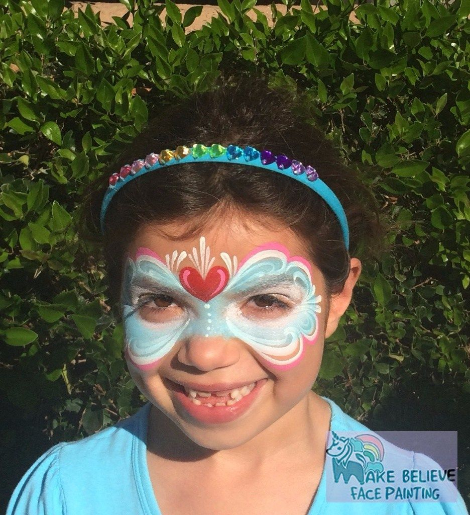 Girls Heart Mask Face painting, Face painting designs
