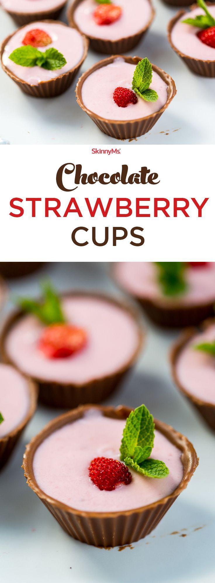 Chocolate Strawberry Cups   Recipe   Desserts, Baking ...