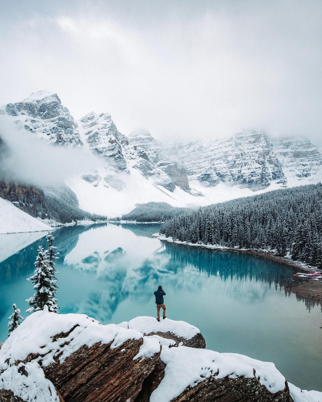 Moraine Lake Banff Alberta By Peter Mckinnon