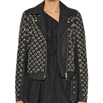 Designers Remix Aida Eyelet Biker Jacket as seen on Bella Thorne