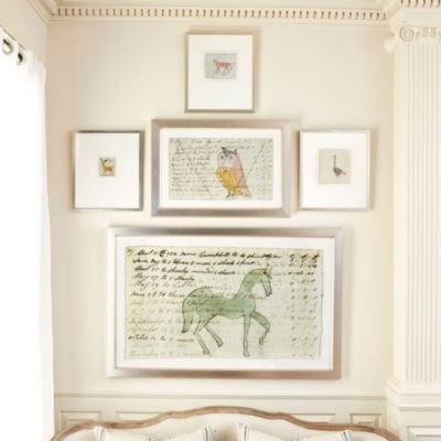 Large Horse Document Drawing European Inspired Home Decor Ballard Designs 739 39 1