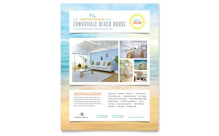 Beach House Flyer Template Design by StockLayouts vamped up biz - microsoft word template flyer