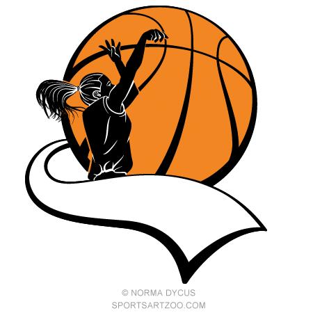 Girl Basketball Player With Pennant Basketball Design Color Sportsartzoo Basketball Girls Basketball Players Basketball Design