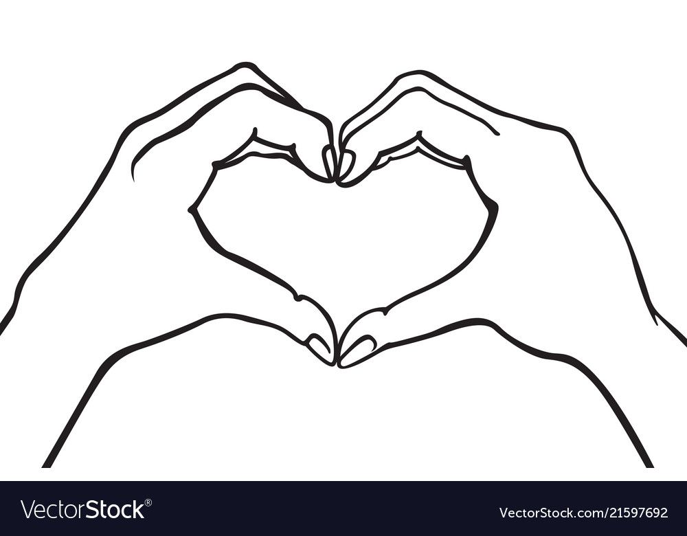 Download Two hands making heart sign love romantic vector image on ...