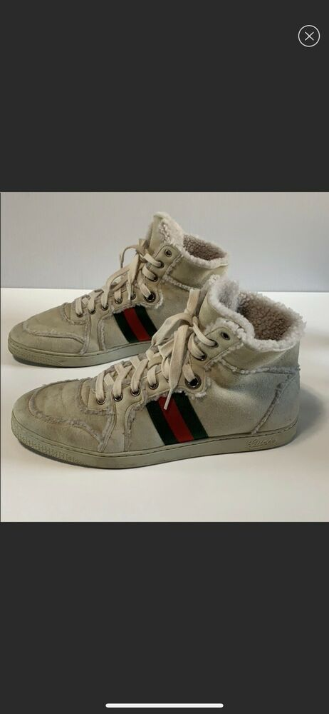 61a955697d5 Gucci Suede Fur Sneaker Size 9  fashion  clothing  shoes  accessories   mensshoes  athleticshoes (ebay link)