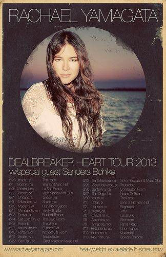 Rachael yamagata music gig posters | Rachael Yamagata to Launch DEALBREAKER HEART Tour in May ...