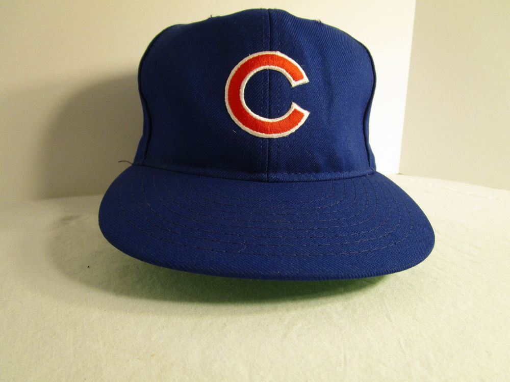 c0e16ee309b CHICAGO CUBS Blue Baseball Cap Hat Snap Back MLB Official Good Condition   ChicagoCubs