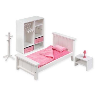 Badger Basket Doll Bedroom Furniture Set In White in 2018 Products