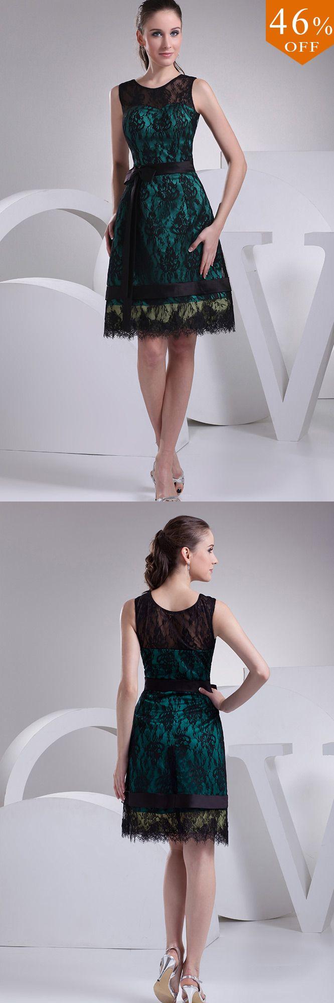 Black lace high neckline short dress special occasion op