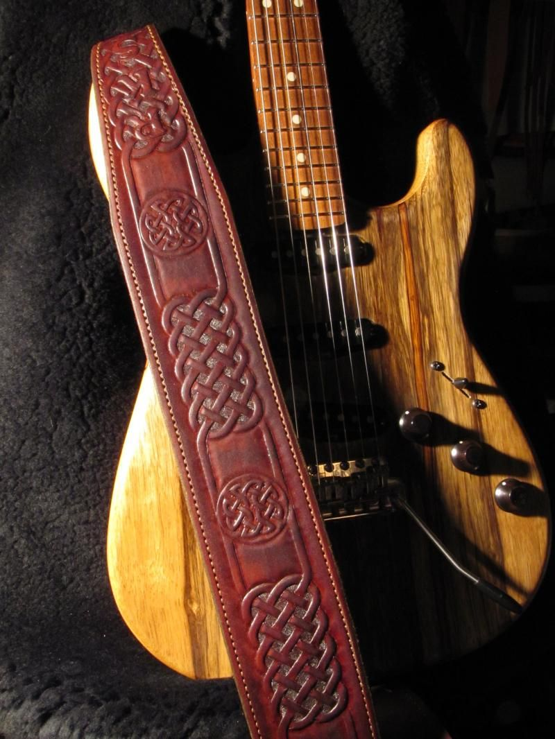 Brookwood leather custom leather guitar and bass straps