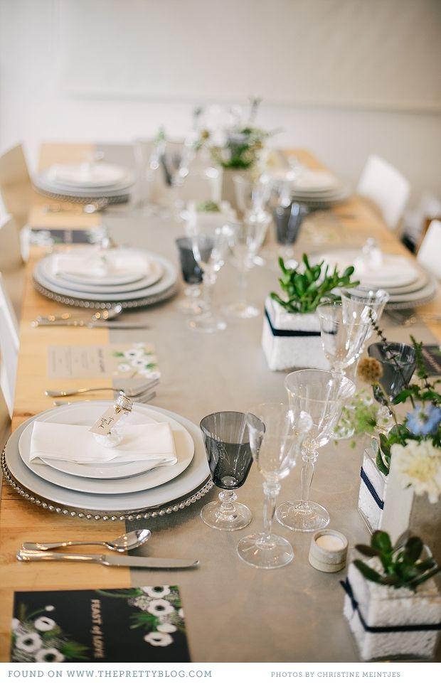 Urban Chic table setting | Photo: @Christine Smythe Smythe Meintjes, Styling: @b.loved