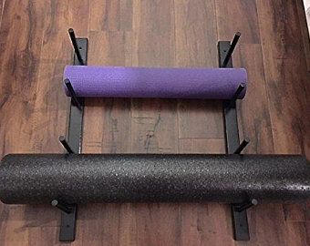yoga mat  foam roller rack 1 set for 4 yoga mats/foam