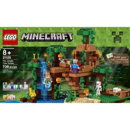 LEGO 21125 Minecraft The Jungle Tree House, Includes 2 minifigures ...