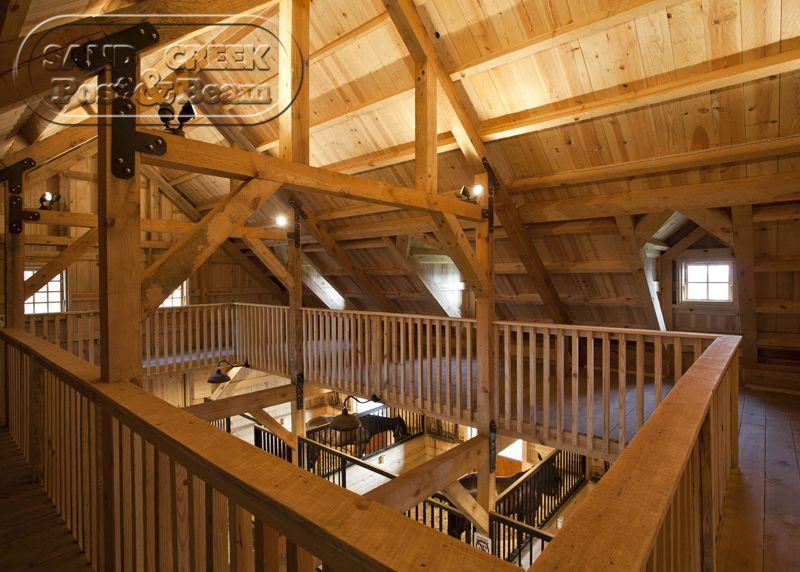 Loft in a horse barn - Beautiful beams and railings | Barn ...