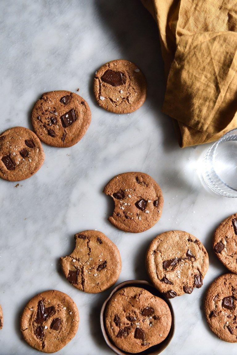 Vegan Almond Butter Choc Chip Cookies