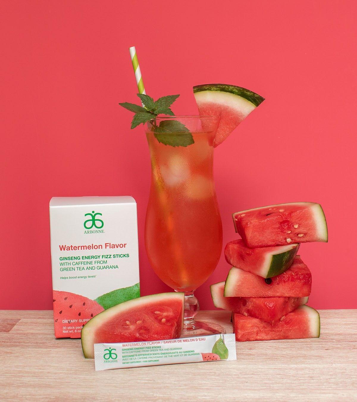 New Limited Edition Ginseng Energy Fizz Stick Watermelon Flavour In 2020 Fizz Sticks Arbonne Nutrition Arbonne