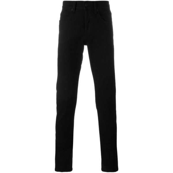 Off White Bicolor Trousers featuring polyvore, men's fashion, men's clothing and black