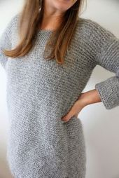Photo of Free Knitted sweater pattern. great for a beginner knitting project, find more f…
