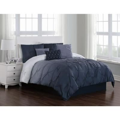 Geneva Home Fashion Bergen 6 Piece Blue Twin Comforter Set In 2020
