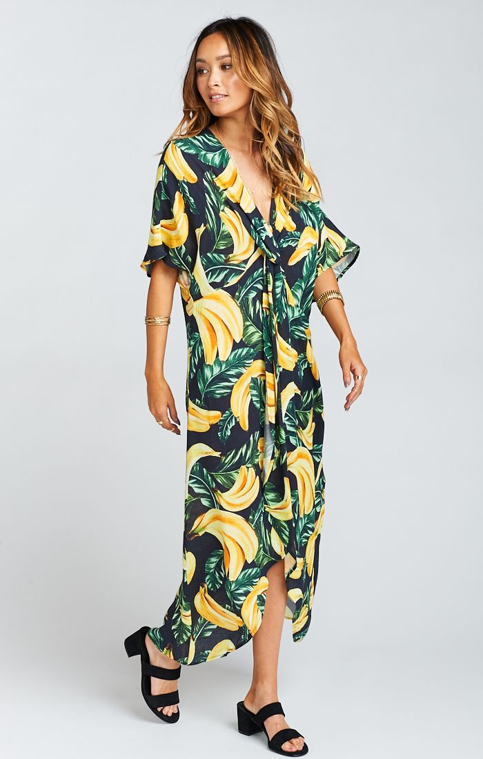 Get Twisted Maxi Dress Gone Bananas Cruise By Show Me Your Mumu