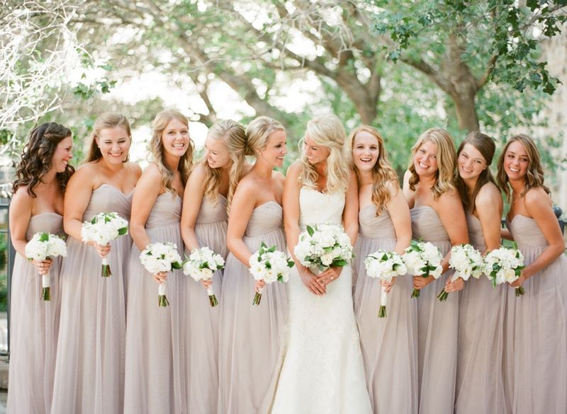 Warm Classic White Wedding Wedding Bridesmaid Wedding