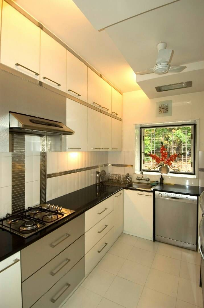 Kitchen With Pale Shade Cabinets by Nikeeta Mehta