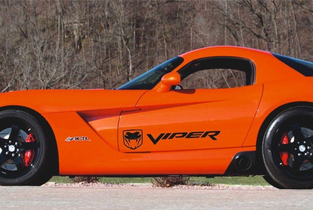 Dodge Viper 2x Side Stripes Graphics Quality Vinyl Decals Racing Stickers Logo Dodgeviper Dodge Viper Racing Stickers Logo Sticker