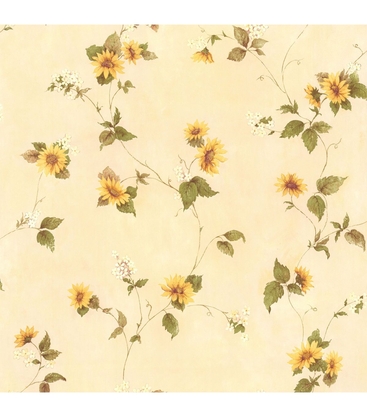 August Yellow Floral Trail Wallpaper Vintage Floral Wallpapers