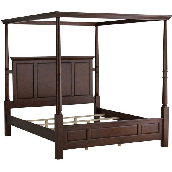 Pier One Ashworth King Bed Chestnut 900 Liked On Polyvore