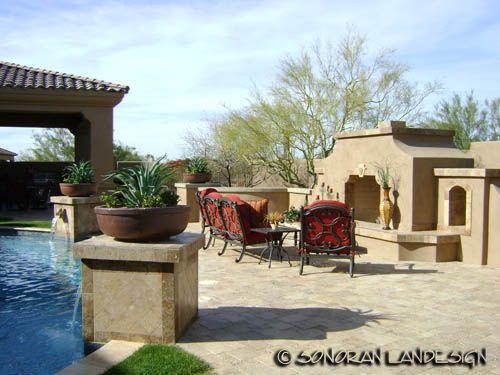 Custom Outdoor Fireplaces Phoenix Scottsdale Arizona Sonoran