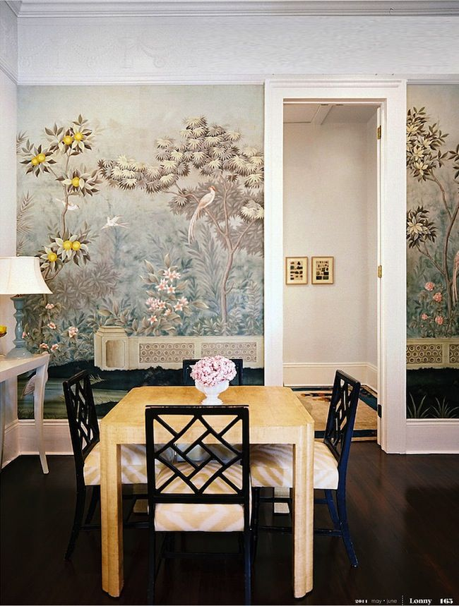 Chinoiserie wallpaper in the dining room | Dining Rooms | Pinterest