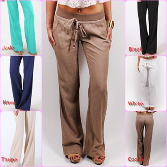 khaki linen pants for women - Pi Pants
