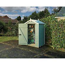 buy rowlinson shiplap apex garden shed willowcream online at johnlewiscom - Garden Sheds John Lewis