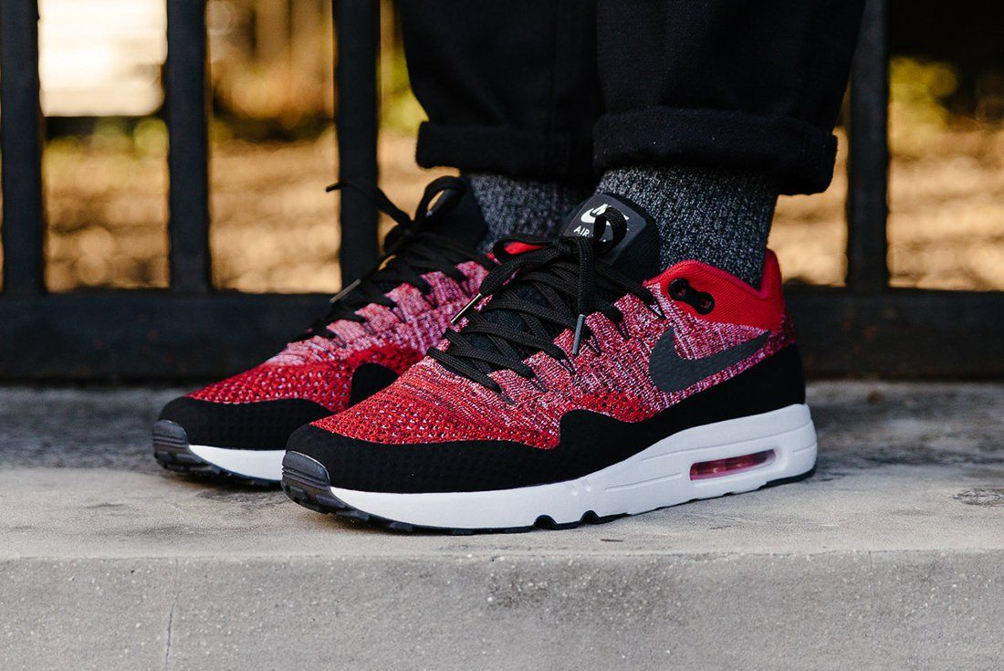 Nike Air Max 1 Ultra 2.0 Flyknit Coureurs Rouges