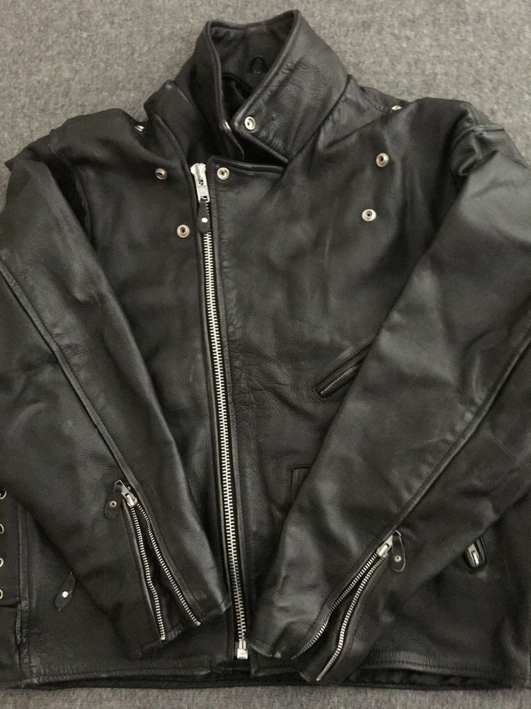 a86bb3bd3 Vintage Men's Leather Motorcycle Jacket - Size 46 #fashion #clothing ...