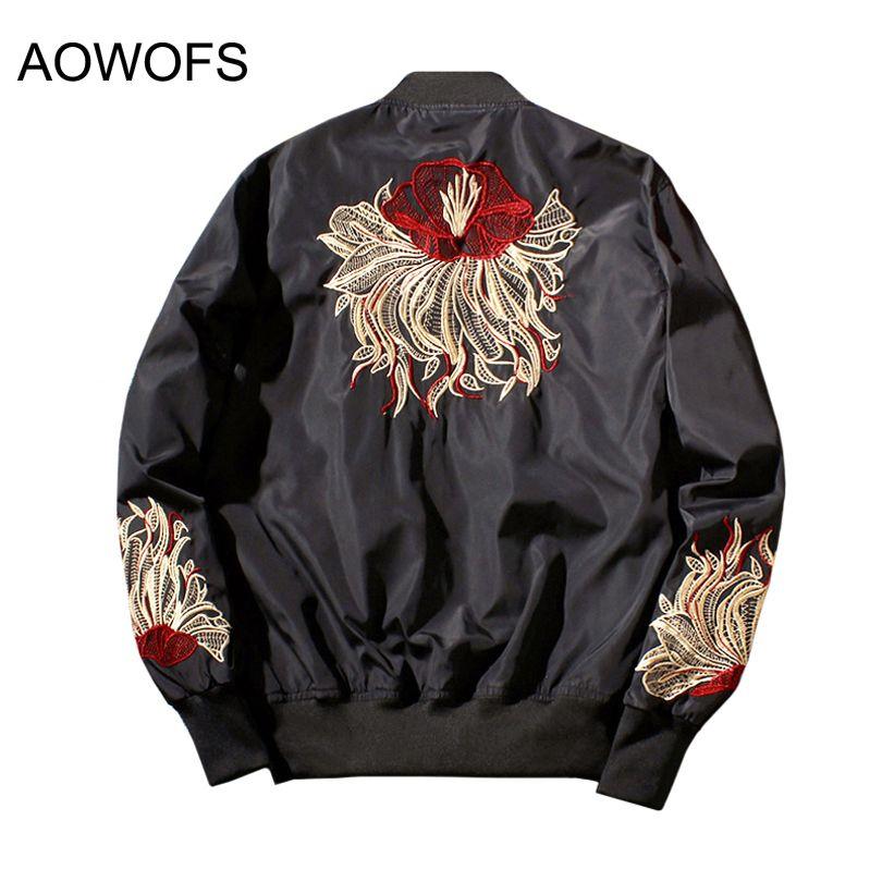 2017 New Fashion Men's eagle Embroidered Baseball Jackets Bomber Flight jacket  Coats