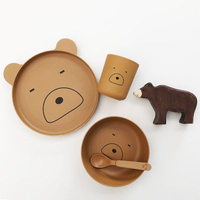 Photo of Coffret Set Repas en bambou – Mr Bear